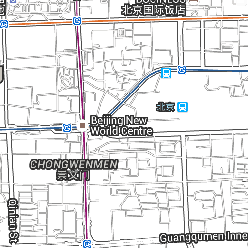 Location Map New World Beijing Hotel Beijing