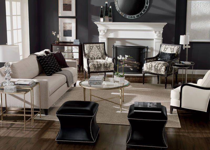 ethan allen modern living room. not terrible | living room | white
