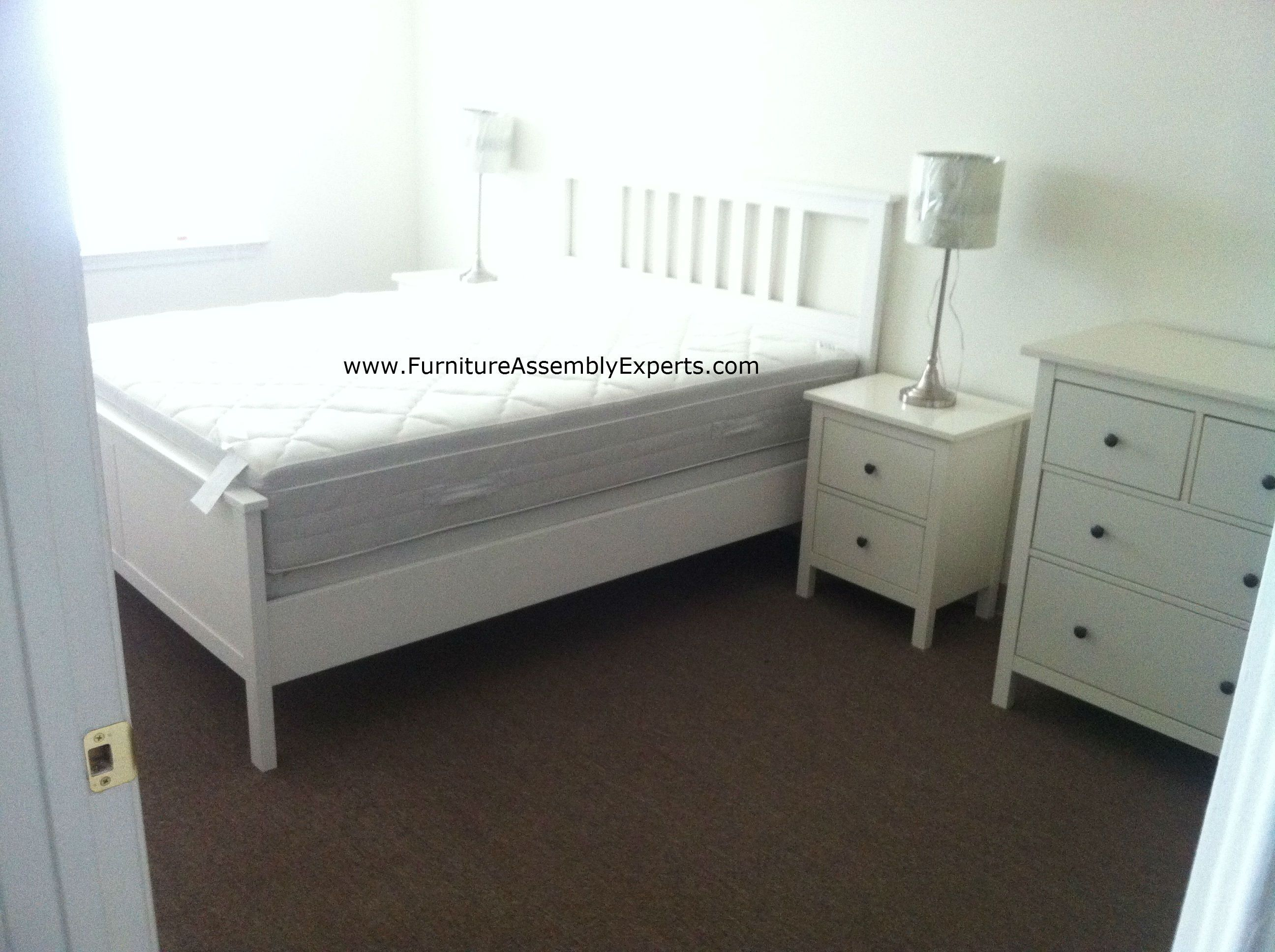 ikea hemnes bed and night stand assembled for a john hopkins