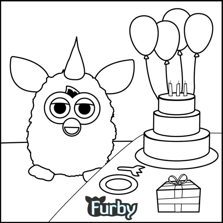 furby coloring pages | Going outside the lines is no problem for ...