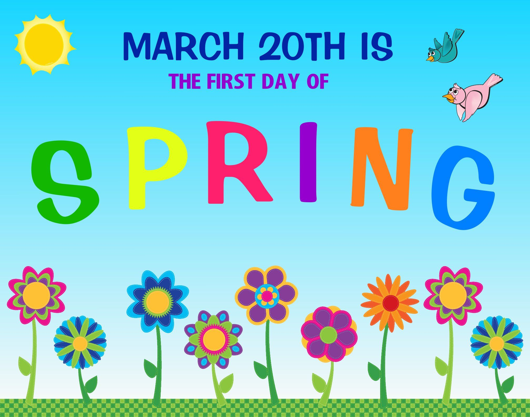 Create a Poster About First Day of Spring
