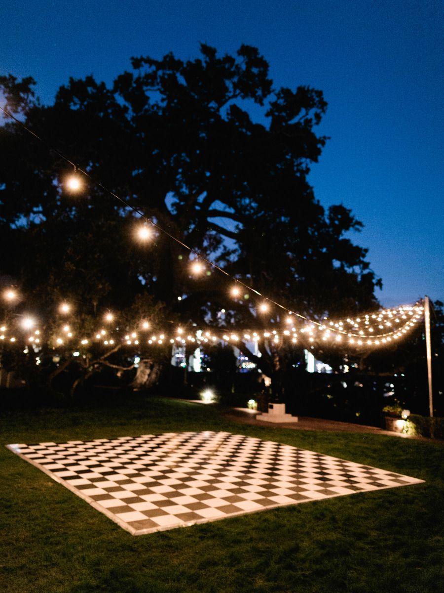 Chic jacksonville garden wedding outdoor dance floors