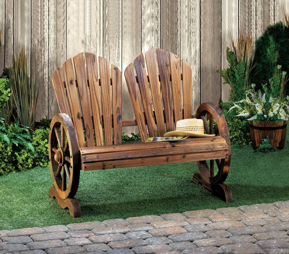 Wagon Wheel Couple Chair In 2019 Products Rustic