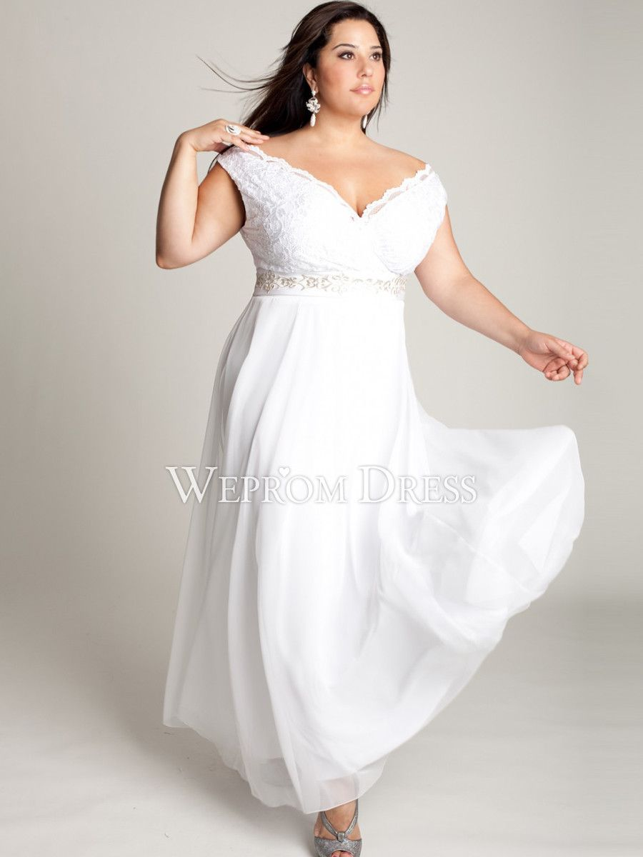 White Plus Size formal Dresses | Prom Dress Ideas