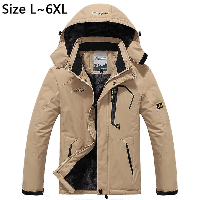 5XL 6XL Thicken Winter Jacket Men Windproof Warm Parka Snow ...