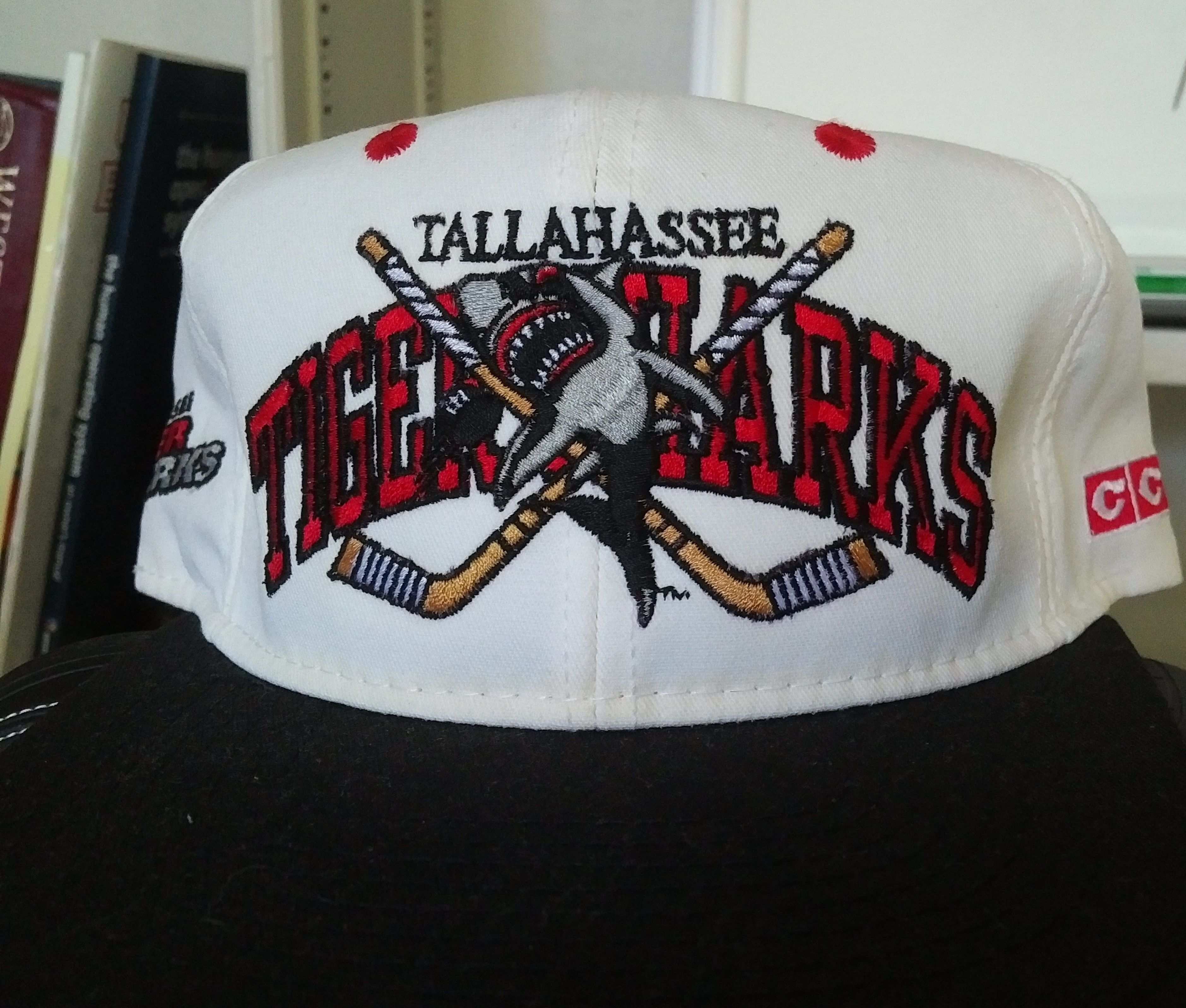 1692264e00a266 Tallahassee Tiger Sharks Snapback Cap Hat - minor league hockey team from  the past