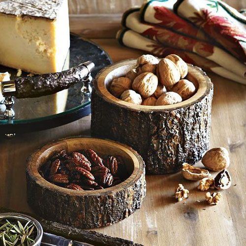 Wood Bark Nut Bowls - The Green Head