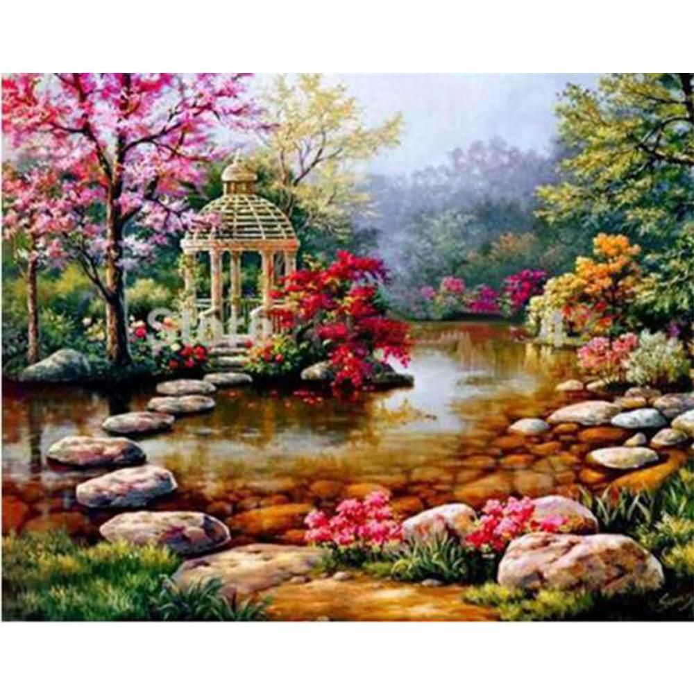 Colorful Beach 5D Diamond DIY Painting Craft Kit Home for DIY Handcrafted