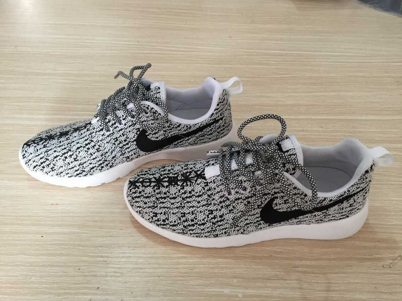wholesale dealer 25fa2 3e384 order custom nike roshe yeezy boost 350 run sneakers athletic running womens  gray white color shoes