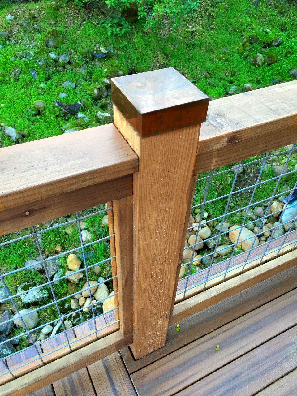 Copper Post Cap Deck Posts Diy Deck Building A Deck