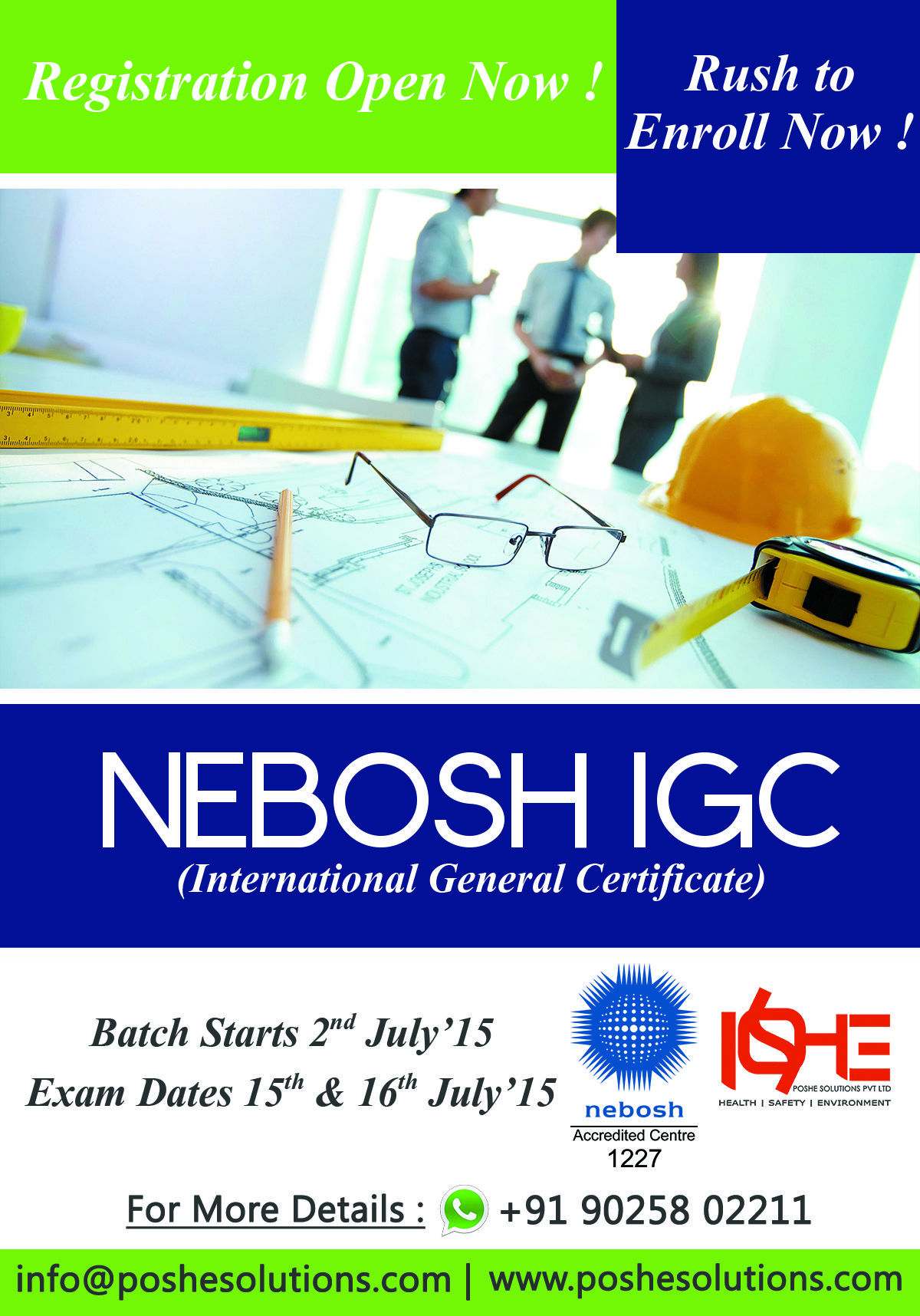 Exclusive Republic Day Offer Closing For NEBOSH IGC Across India Registration 27th January 2016 Hurry Call Today And Book Your