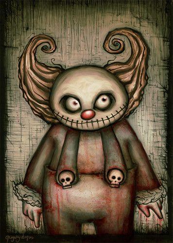 evil clown by chiaroescuro