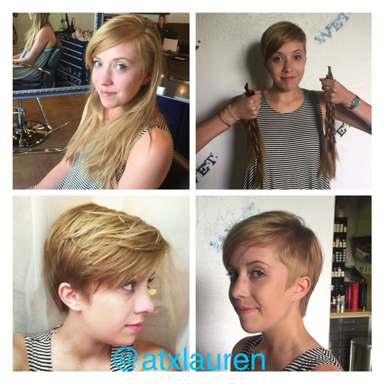 Before and after pixie cut So cute on her hair