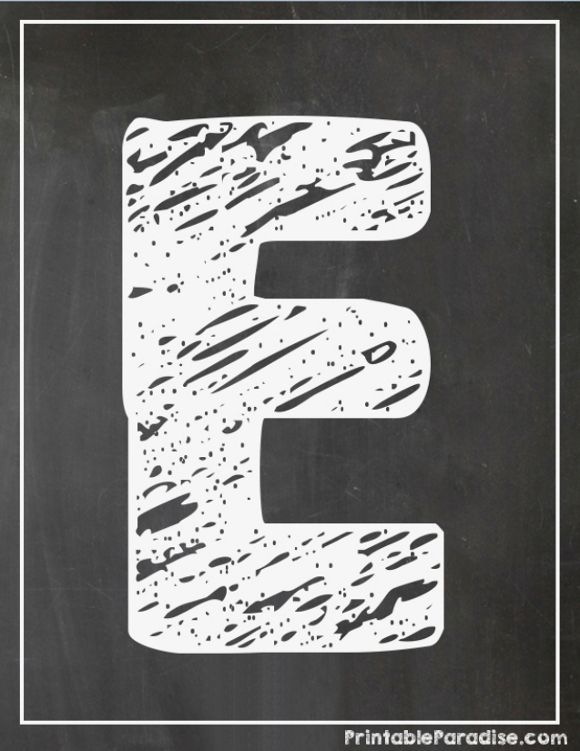 graphic relating to Printable Chalkboard Letters referred to as Printable Letter E Chalkboard Composing Printable Chalkboard