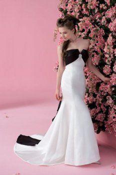 de style en noir et blanc pas cher robes de mariée de couleur