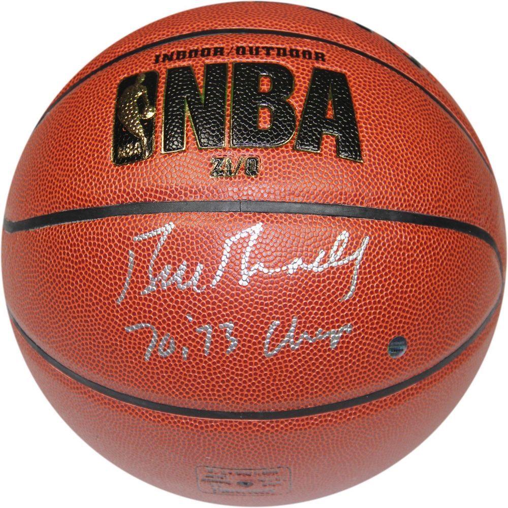 Bill Bradley Signed I/O NBA Brown Basketball w/ 7073