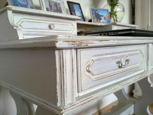 Schreibtisch weiß vintage  Shabby-chic-Schreibtisch-Sekretaer-Tisch-Landhausstil-Vintage ...