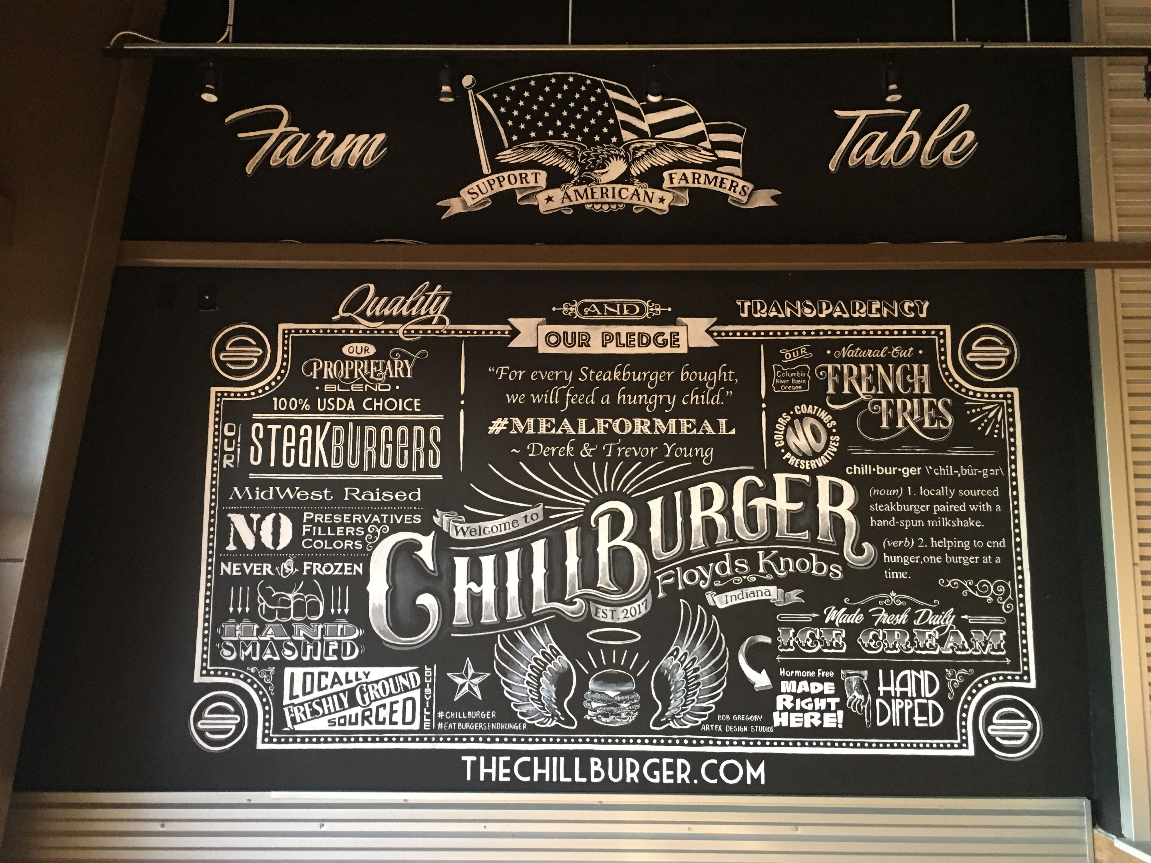 chillburger chalkboard mural floyds knobs indiana www