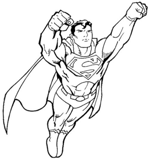 Superman Fly Coloring Page Free Printable Coloring Pages