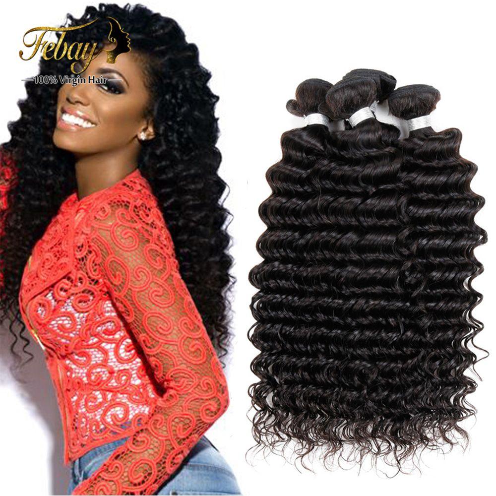 뜨거운 판매 7A 처리되지 않은 브라질 처녀 머리 깊은 웨이브 100% 인간의 머리 확장 인간의 머리 직조 번들 브라질 깊은 웨이브