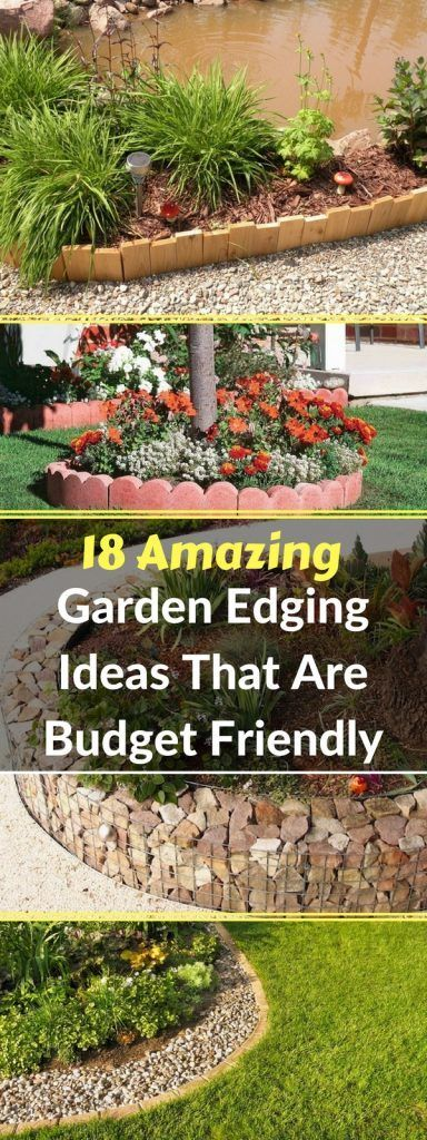 18 Amazing Garden Edging Ideas That Are Budget Friendly #gartenrecycling