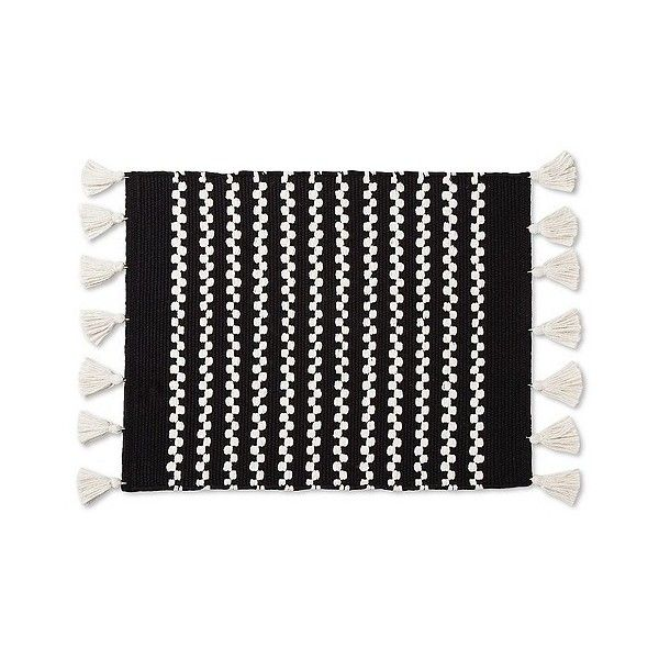 Chunky Tassel Placemat Black 230 DOP ❤ liked on Polyvore