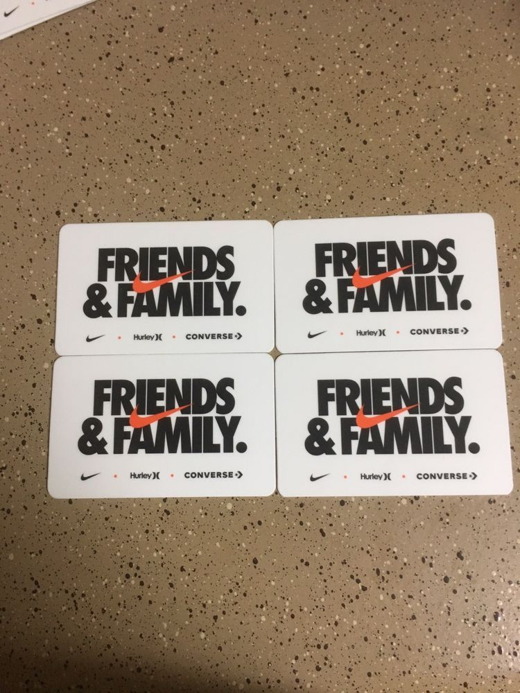 separation shoes c9915 7e7b9 Friends and Family Cards Nike 30% off November 1 thru 5 Lot ...