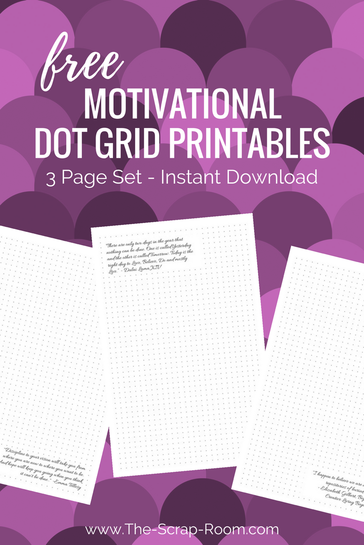 Download this free 3 page dot grid journaling set and use it to
