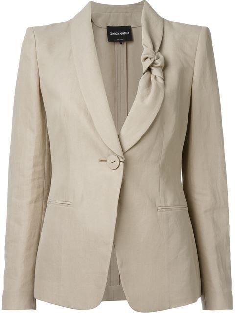 03d4251526 GIORGIO ARMANI Knot-Collar Blazer. #giorgioarmani #cloth #blazer ...