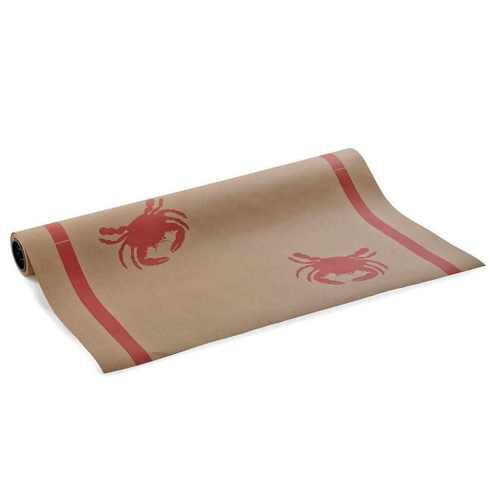 40 Quot X 300 Paper Table Cover With Crab Pattern Crab
