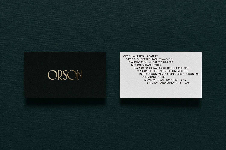 New Logo Branding Interior For Orson By Anagrama Bp O Burger