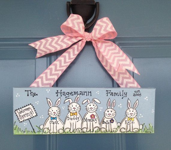 Easter canvas wall hanging makes a great gift for easter and a easter canvas wall hanging makes a great gift for easter and a perfect canvas for the negle Image collections