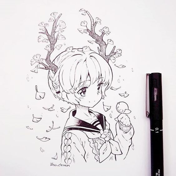 Открытка, прикольные картинки для срисовки в скетчбук легкие для девочек аниме