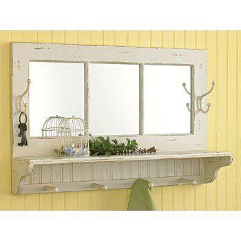 Southport Shelf With Hooks Wall Shelf With Hooks Mirror With