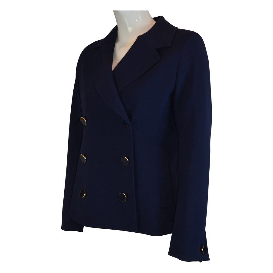 Closet Double Breasted Jacket in Navy | Jackets | Fashion