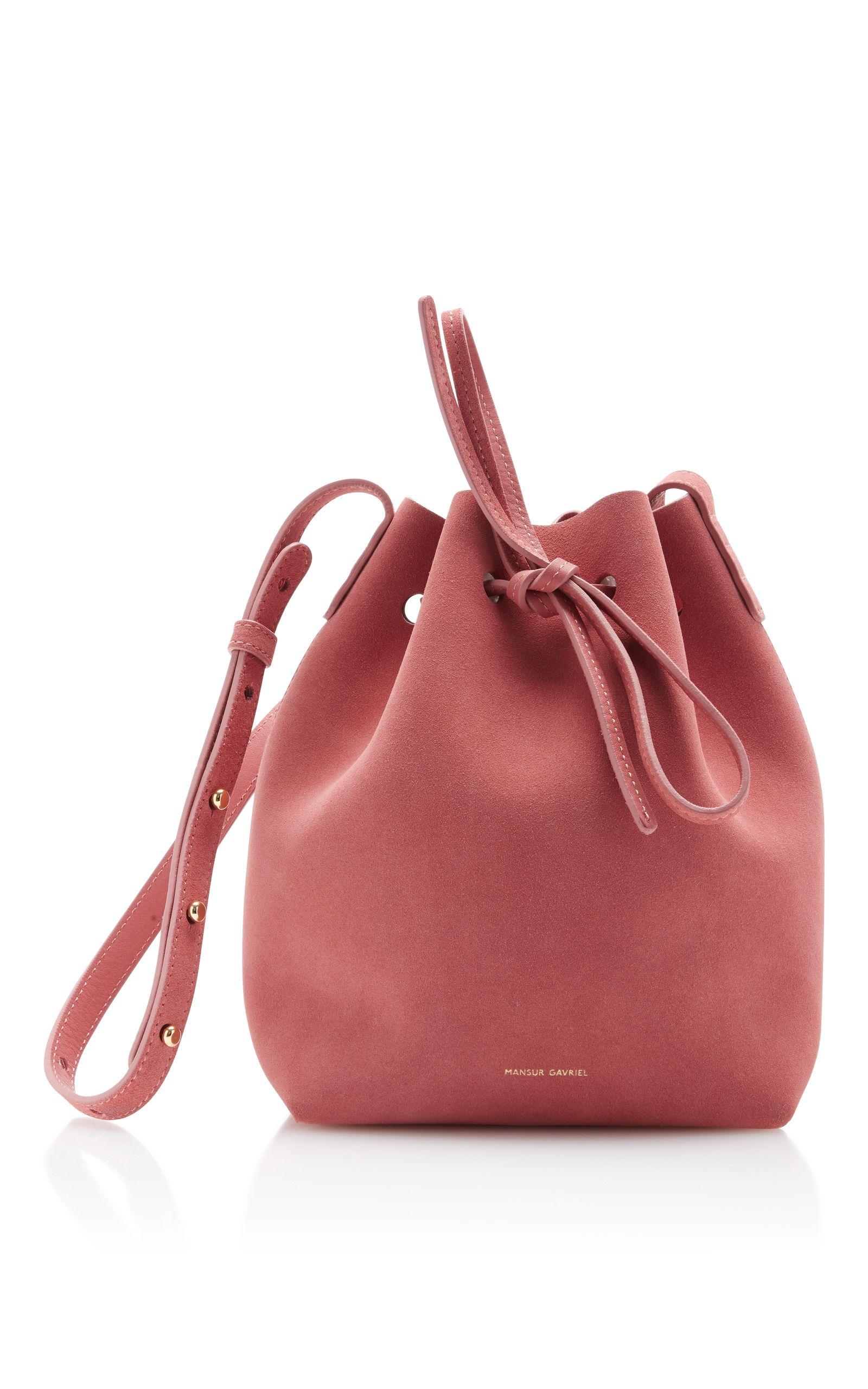 MANSUR GAVRIEL Suede Mini Bucket Bag.  mansurgavriel  bags  shoulder bags   bucket  suede