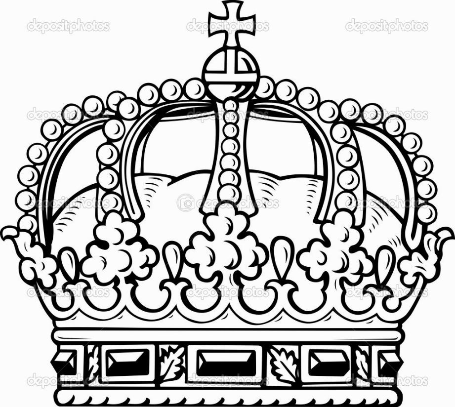 King Crown Coloring Page King Crown Drawing Crown Clip Art
