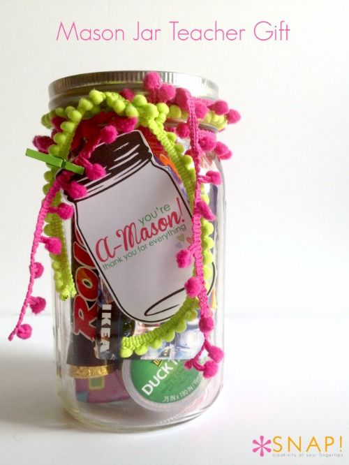 A Mason Thank You Gift For Teacher Skip To My Lou Mason Jar Teacher Gifts Mason Jar Teacher Best Teacher Gifts