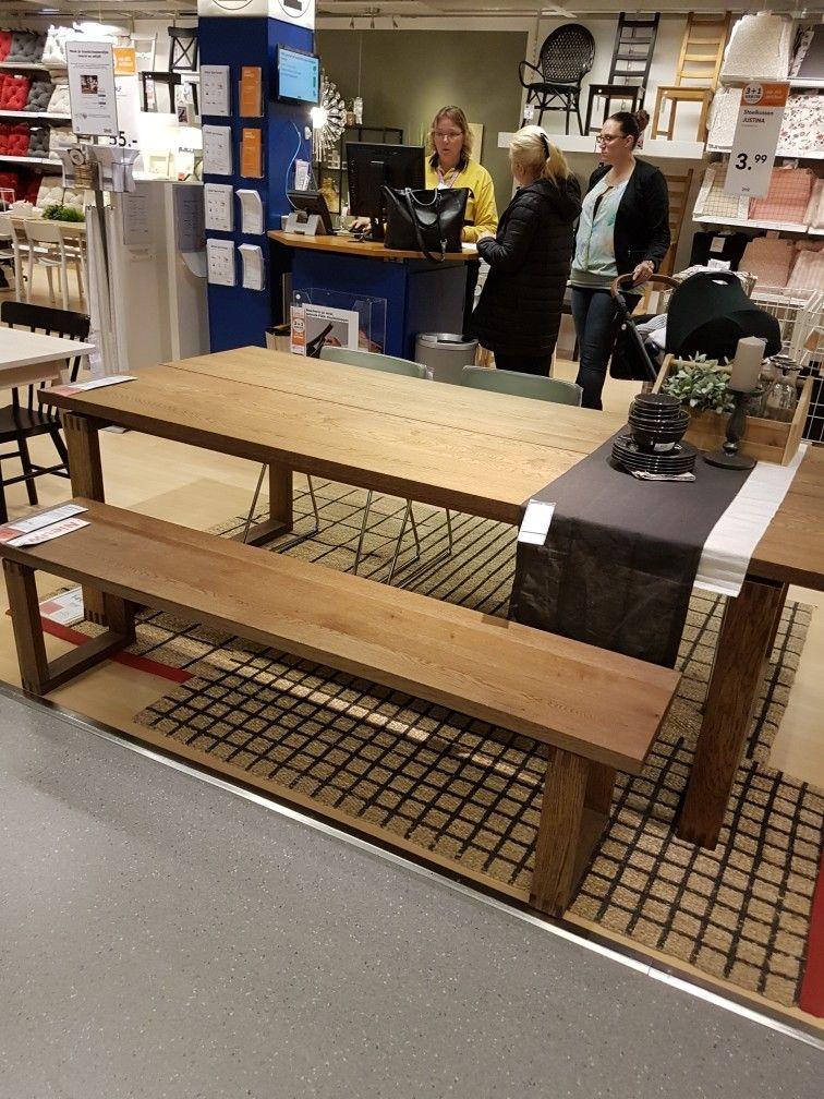 Ikea Morbylanga Kitchen In 2019 Ikea Dining Table Ikea Dining Ikea Table