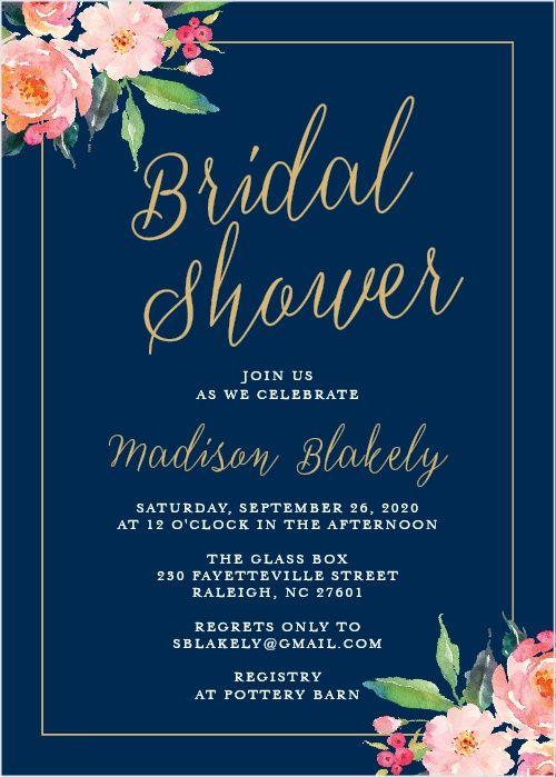 Cheap Bridal Shower Invitations Online
