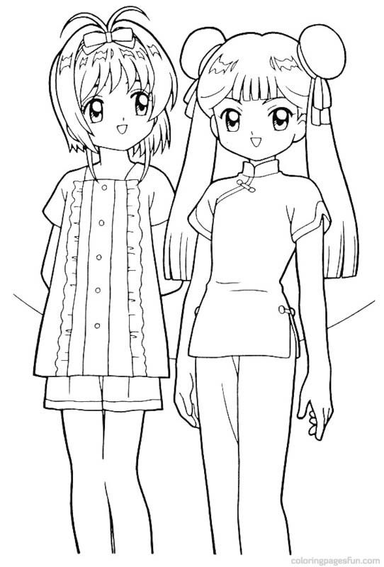 Cardcaptor Sakura Coloring Page Coloring Pages Cardcaptor Cardcaptor Sakura