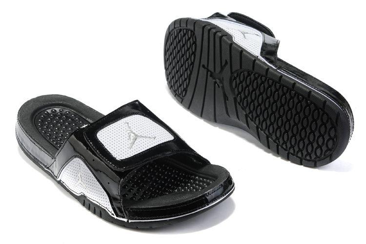 Air Jordan Shoes Air Jordan 5 Sandals Black White Grey [Air Jordan 5 -  Slide into the Air Jordan 5 Sandals Black White Grey after a game and wear  them all ...