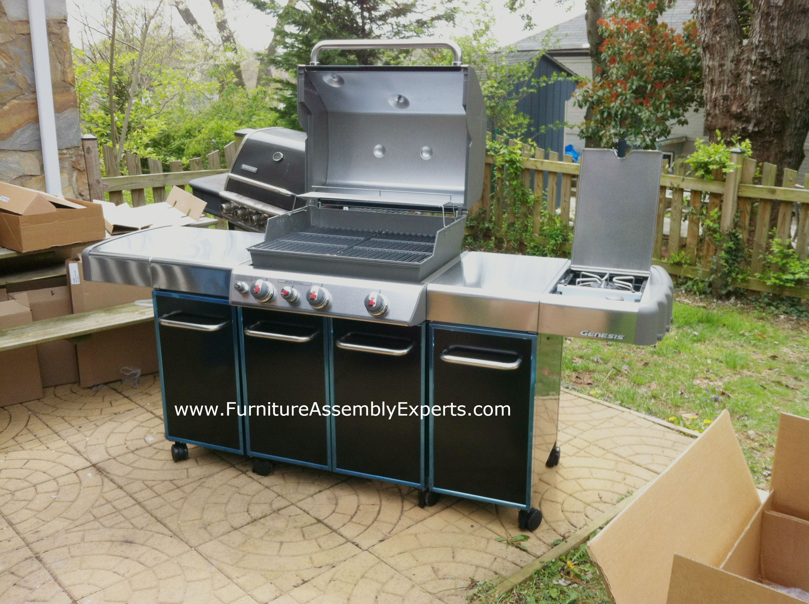 weber genesis gas grill assembled in downtown baltimore MD by