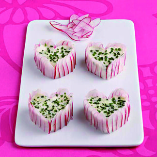 Mini-charlottes de radis rose