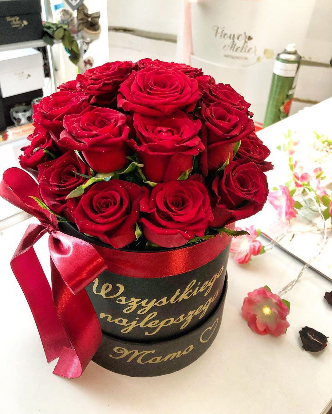Flower Box Z Okazji Urodzin Klasycznie Z Czerwona Roza