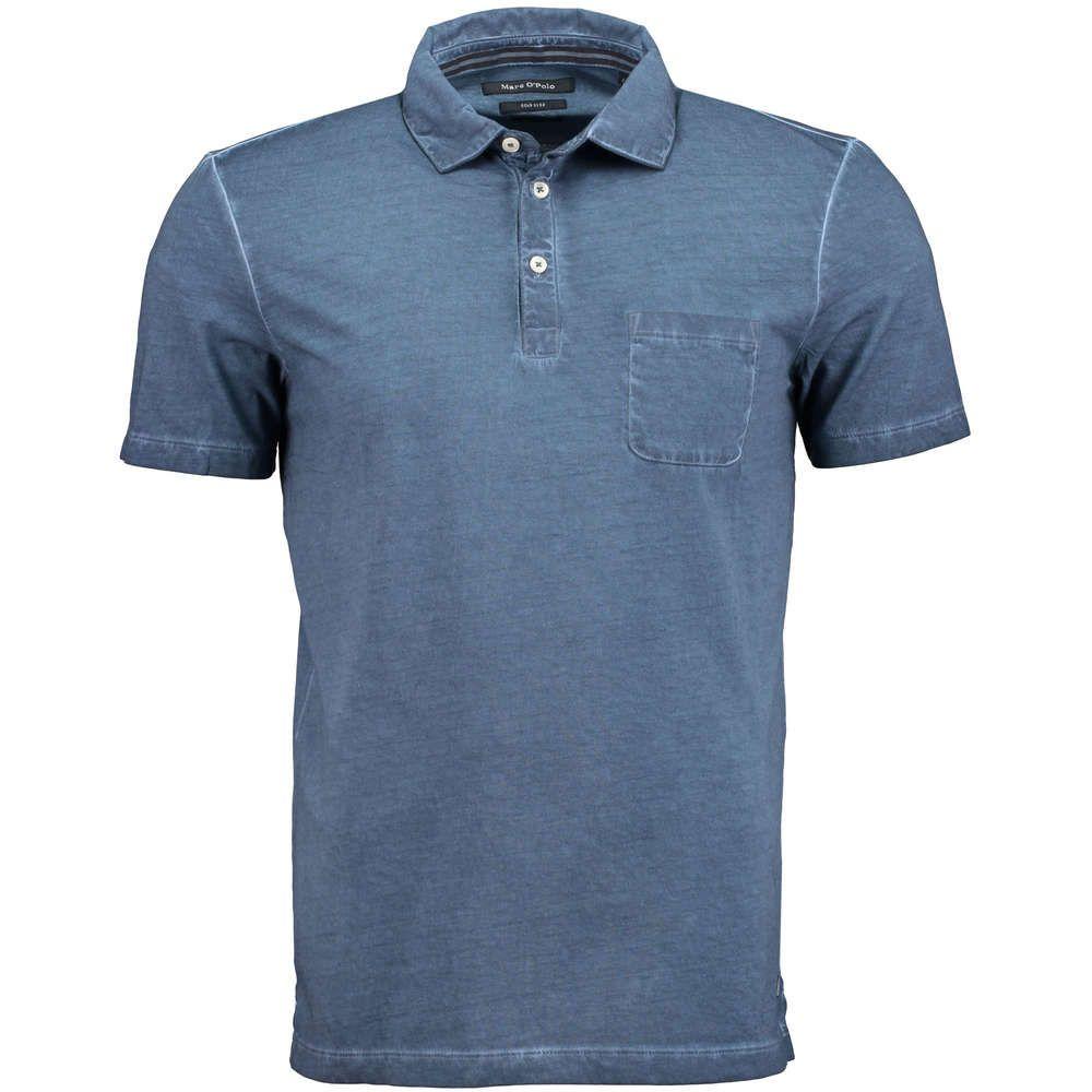 MARC O'POLO - Cold-Dyed Shaped-Fit Polohemd ▻ Das tailliert geschnittene  Shaped-Fit Polohemd von MARC O'POLO ist aus reiner Baumwolle gefertigt.