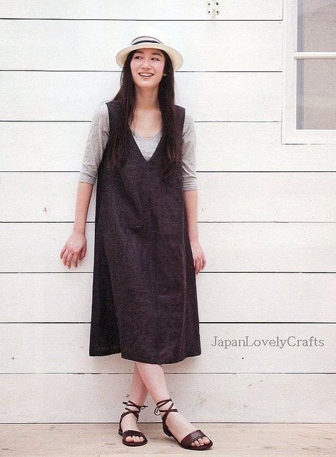 1 Day Sewing One-Piece Dress & Tunic - Japanese Pattern Book for Women's Natural Clothes - B540