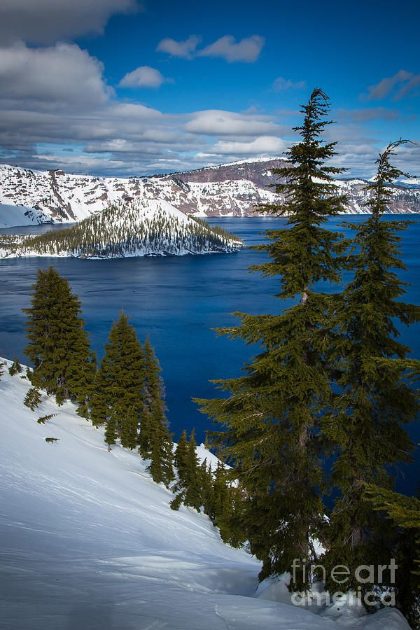 Winter At Crater Lake by Inge Johnsson #craterlakenationalpark