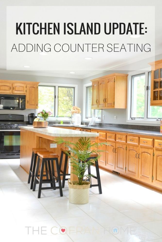 Extending Our Island to Add Counter Seating | Kitchens, House and ...