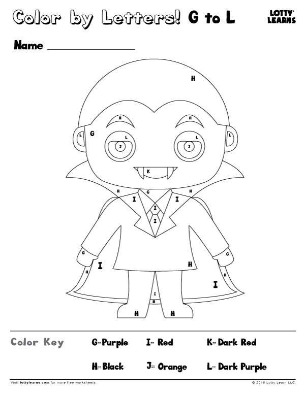 FREE Halloween Dracula Color by Numbers Printable! This is